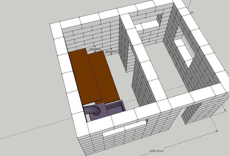 проекты строительства бани из пеноблока